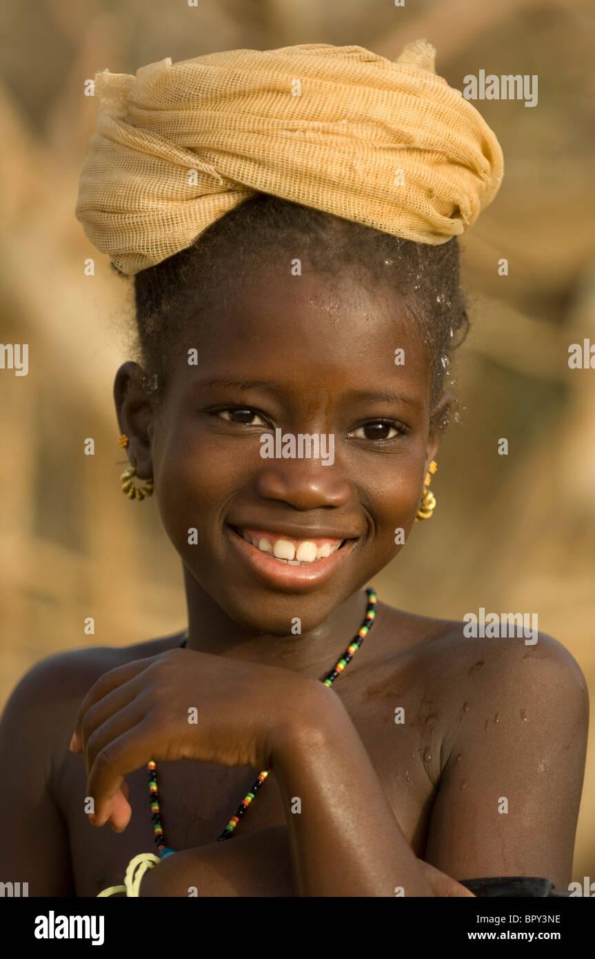 Girl portrait, Matam, Senegal - Stock Image