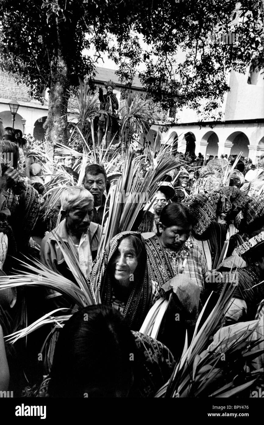 Palm Sunday celebrations. Easter, Guatemala - Stock Image