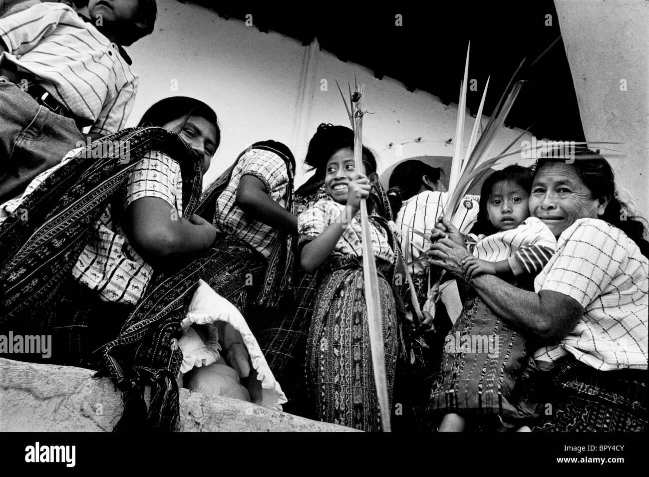 Palm Sunday, Easter. Guatemala - Stock Image