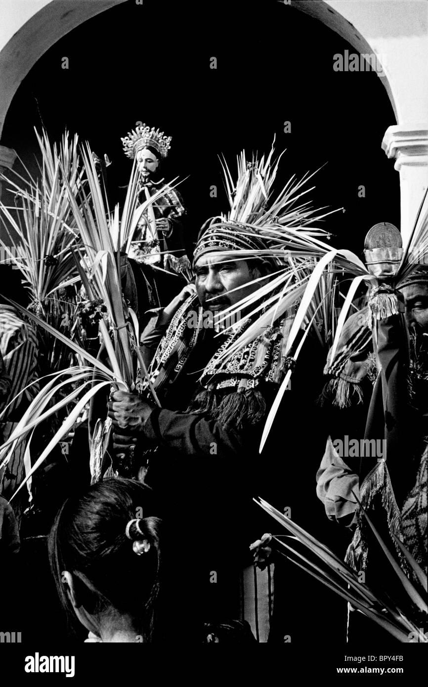 Palm Sunday celebrations during Holy Week. Guatemala - Stock Image