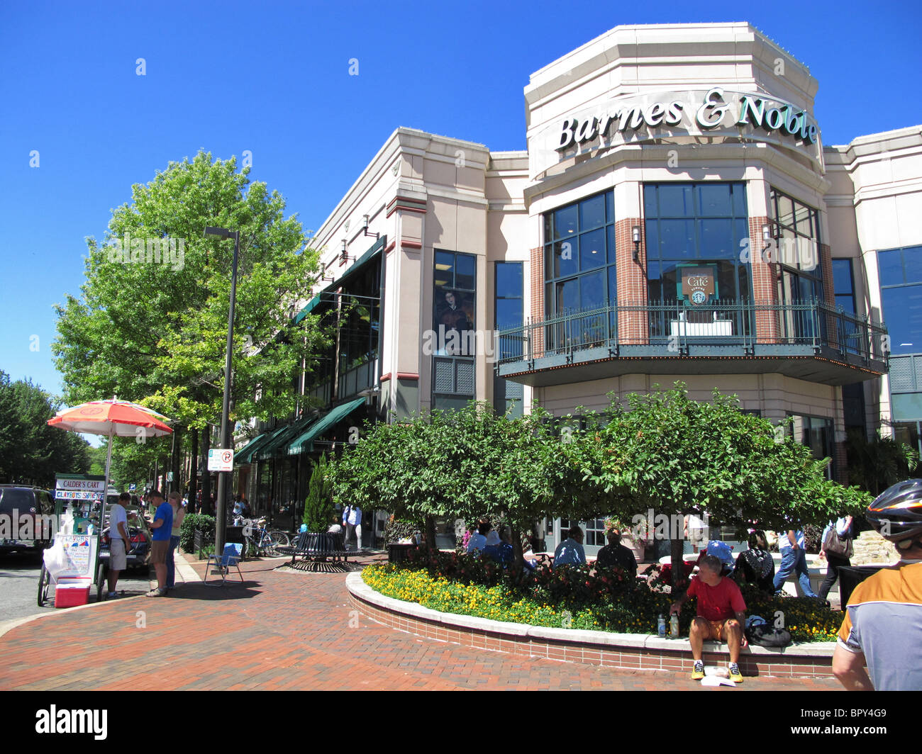 USA Bethesda Maryland MD Barnes and Noble book sellers store exterior outside - Stock Image