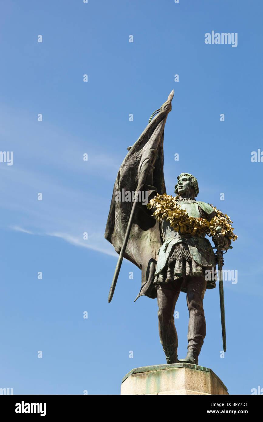 Segovia, Segovia Province, Spain. Monument to Juan Bravo c. 1483 - 1521, rebel leader during Castilian War of the - Stock Image