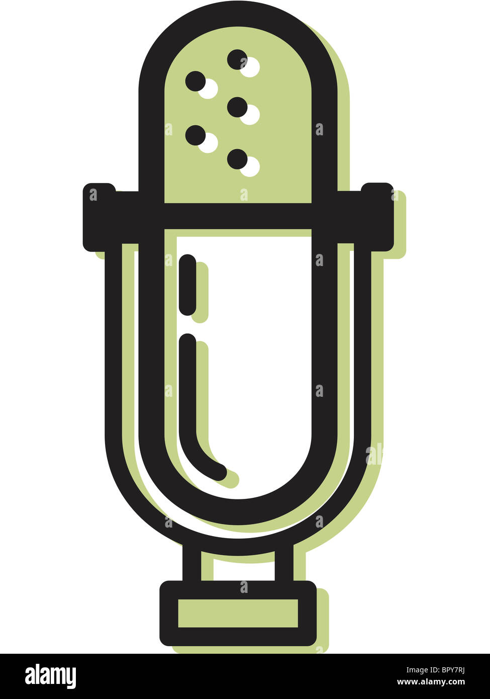Ilustration of a microphone - Stock Image