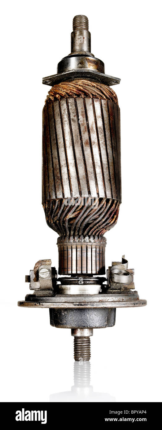 old motor - Stock Image