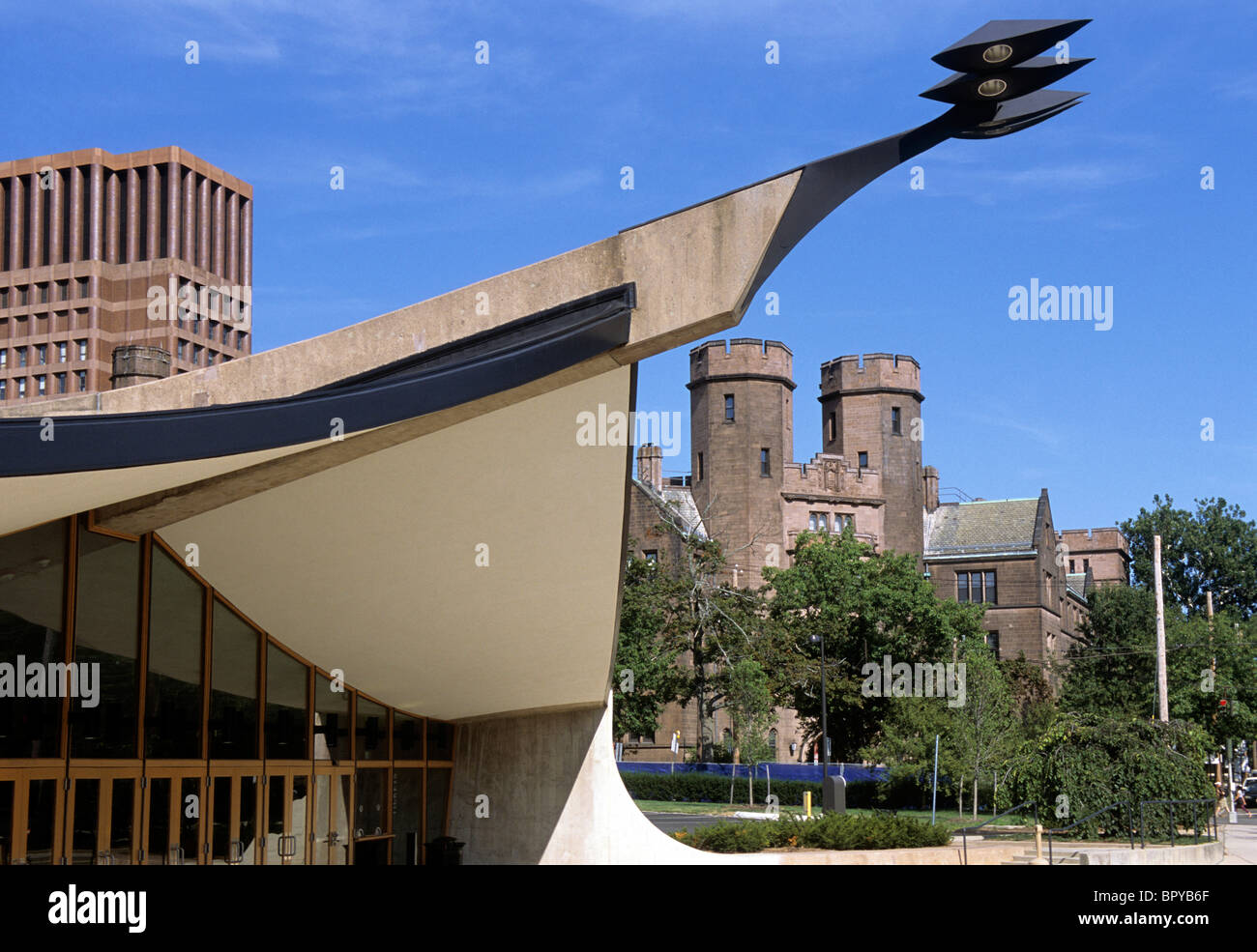 USA New Haven Connecticut Yale University Ingalls Rink Eero Saarinen - Stock Image
