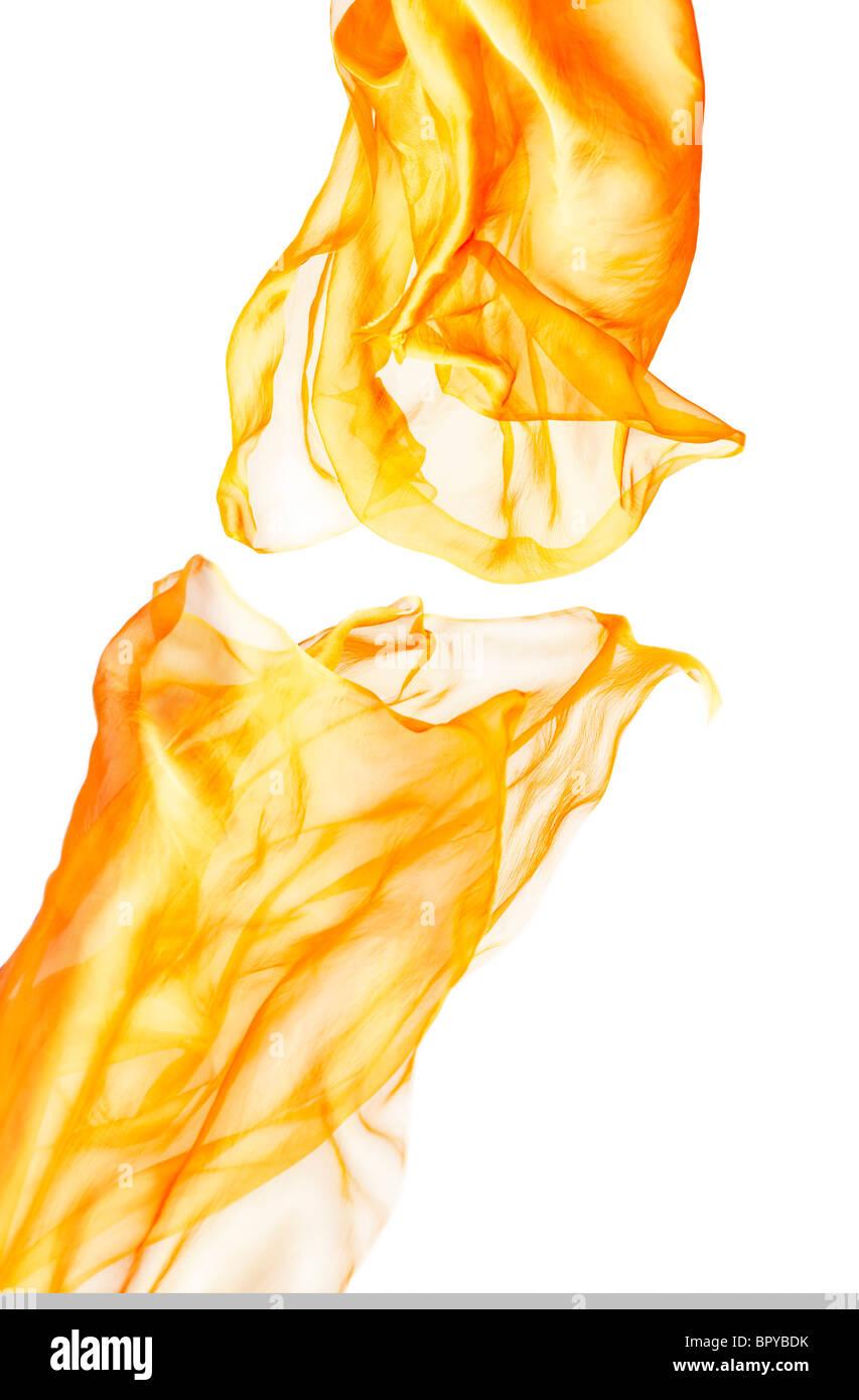 orange cloth, orange fabric - Stock Image