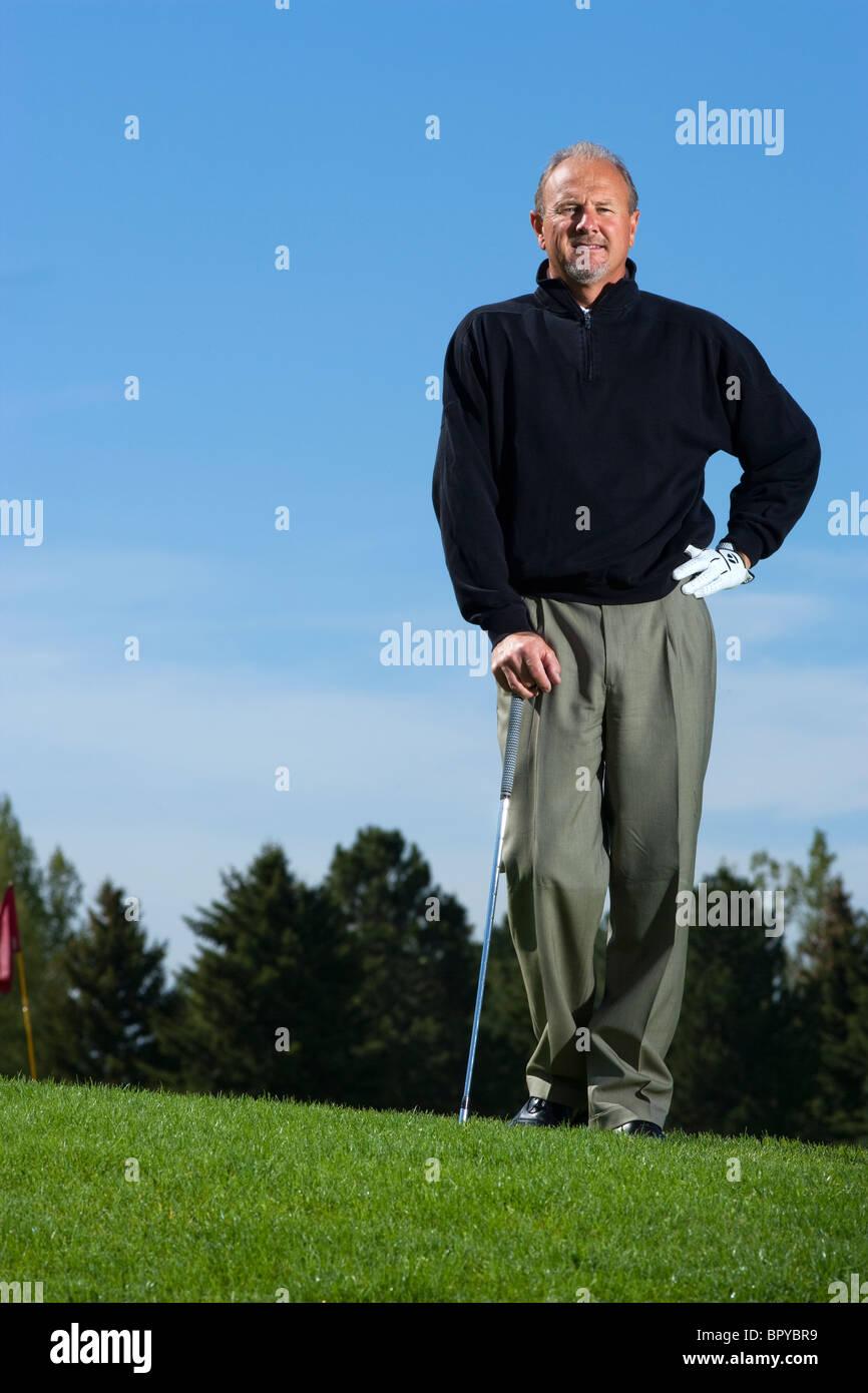 Fort Collins, Colorado, Portrait of PGA Professional Dale Smigelsky of Collindale Public Golf Course. - Stock Image