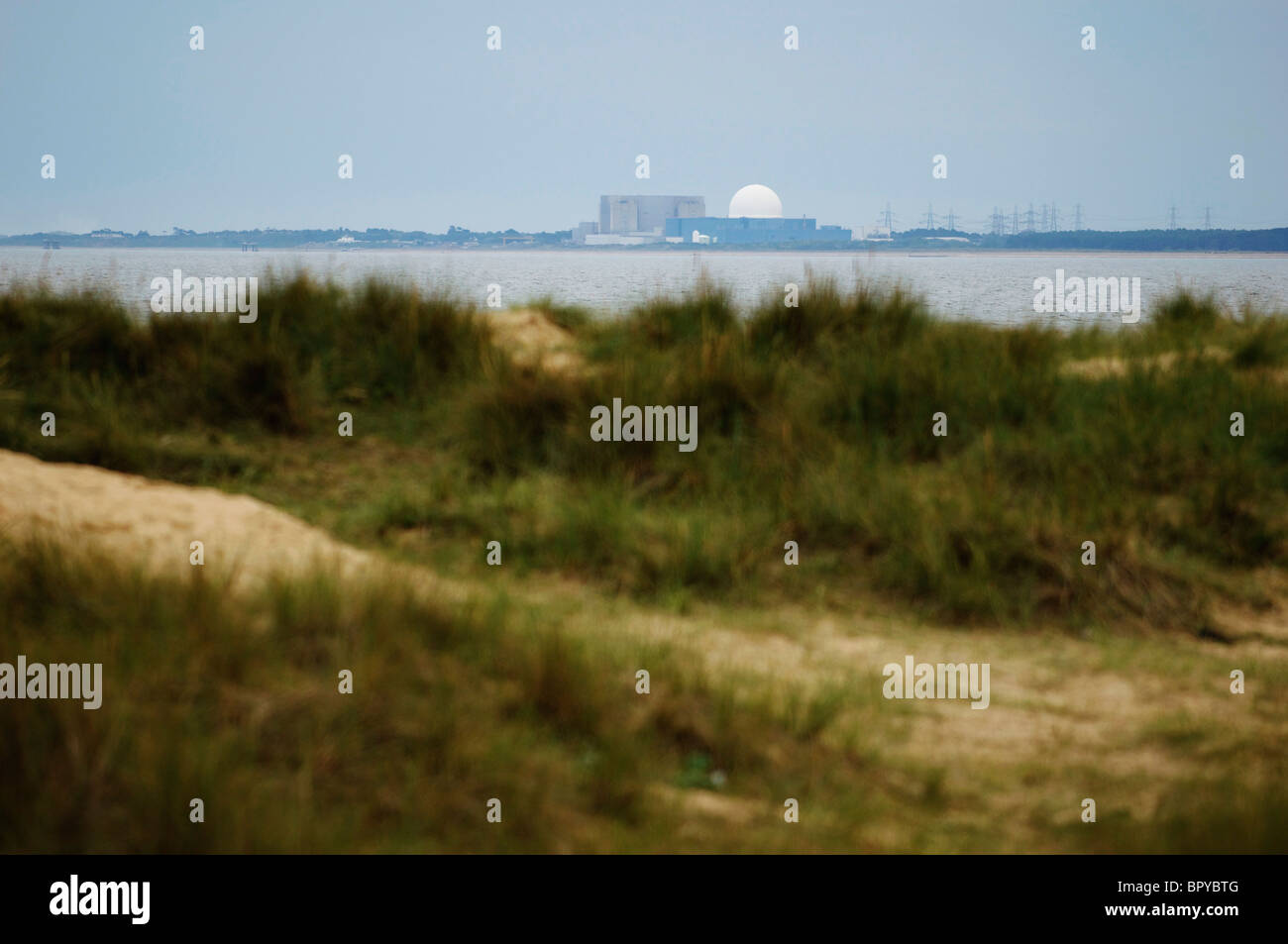 Sizewell B Nuclear Power Station on the Suffolk Coast - Stock Image
