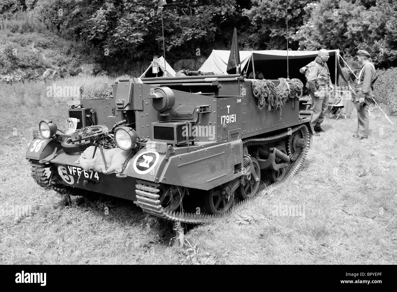 A Bren Gun Carrier unit of the British Army in France 1944 - Stock Image