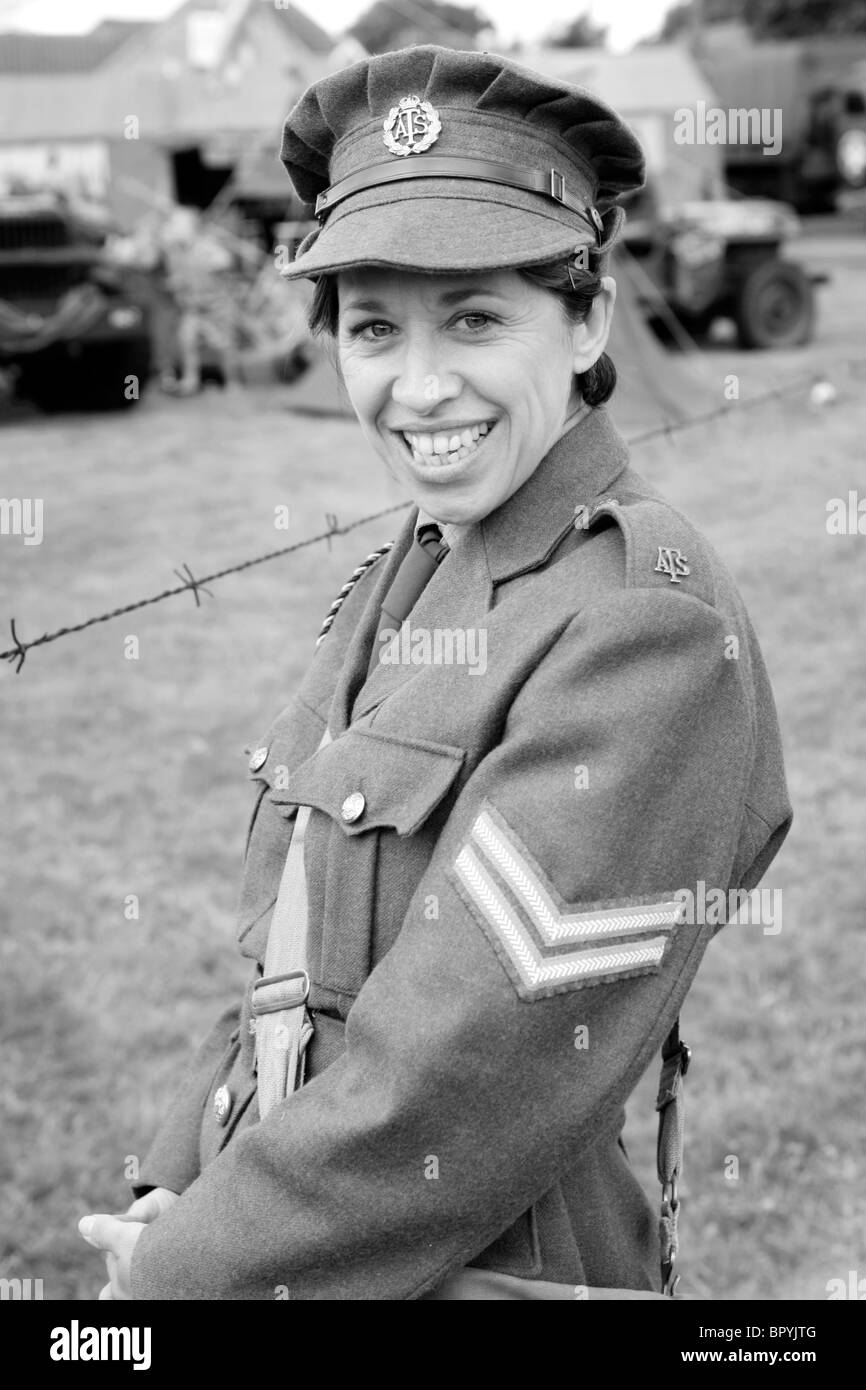 Female Corporal of the ATS the pre-WRAC of the British Army - Stock Image
