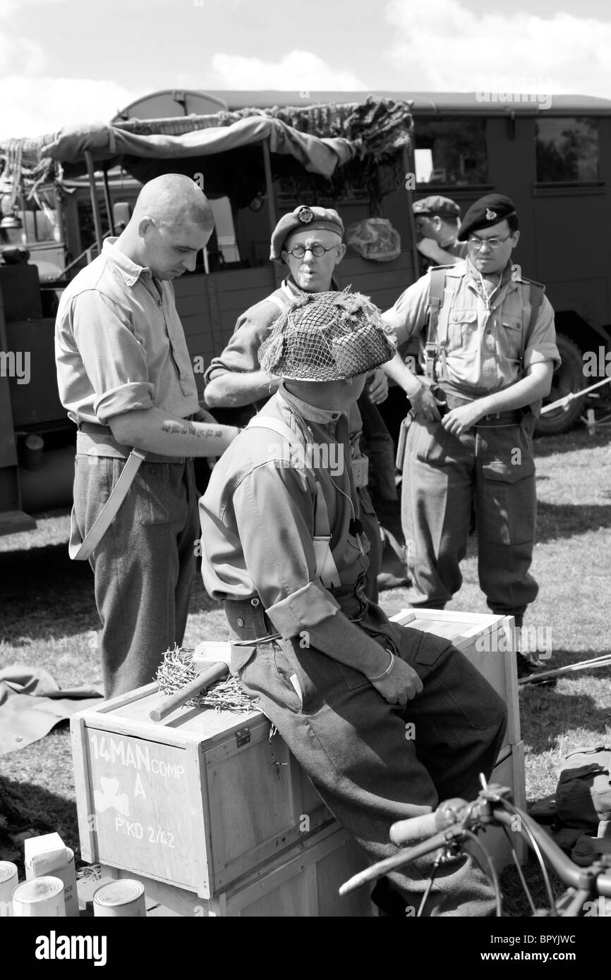 Soldiers of the British Army during the build up to D-Day - Stock Image