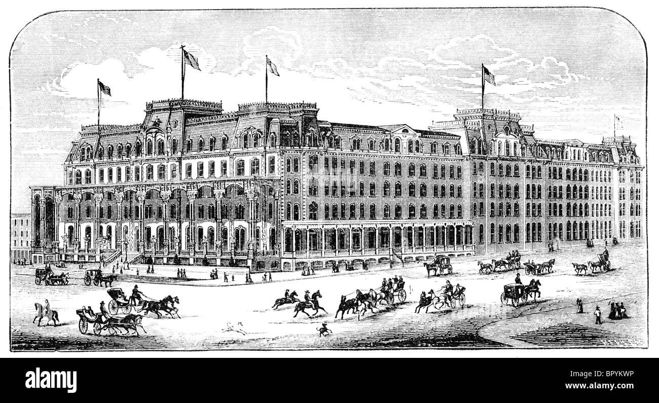 Grand Union Hotel (Saratoga Springs, New York) - Stock Image
