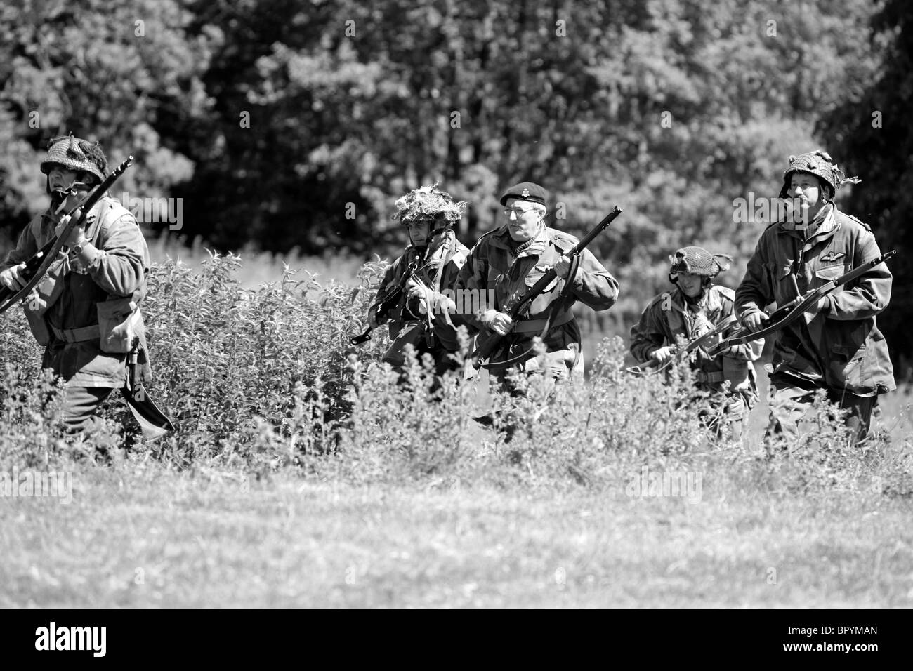 Soldiers of the British Army Airborne Division in Normandy 1944 - Stock Image