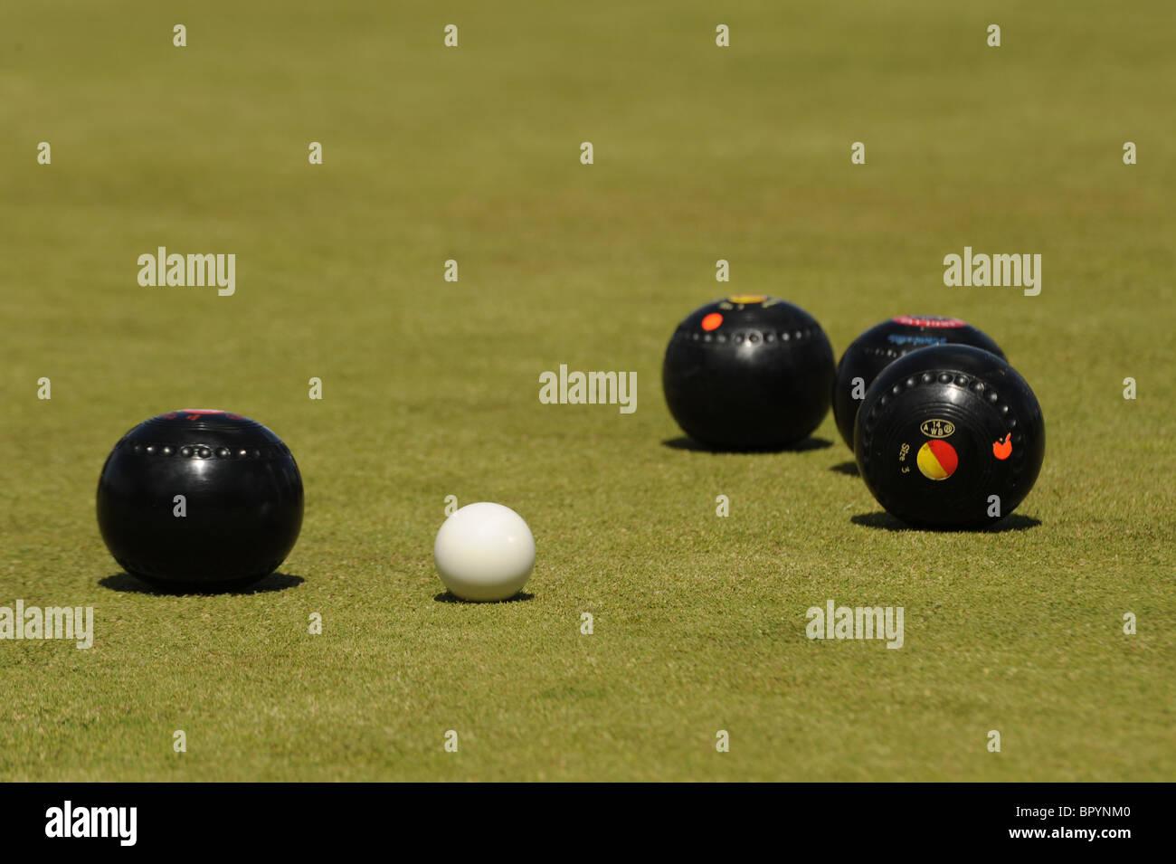 Lawn Bowls - Stock Image