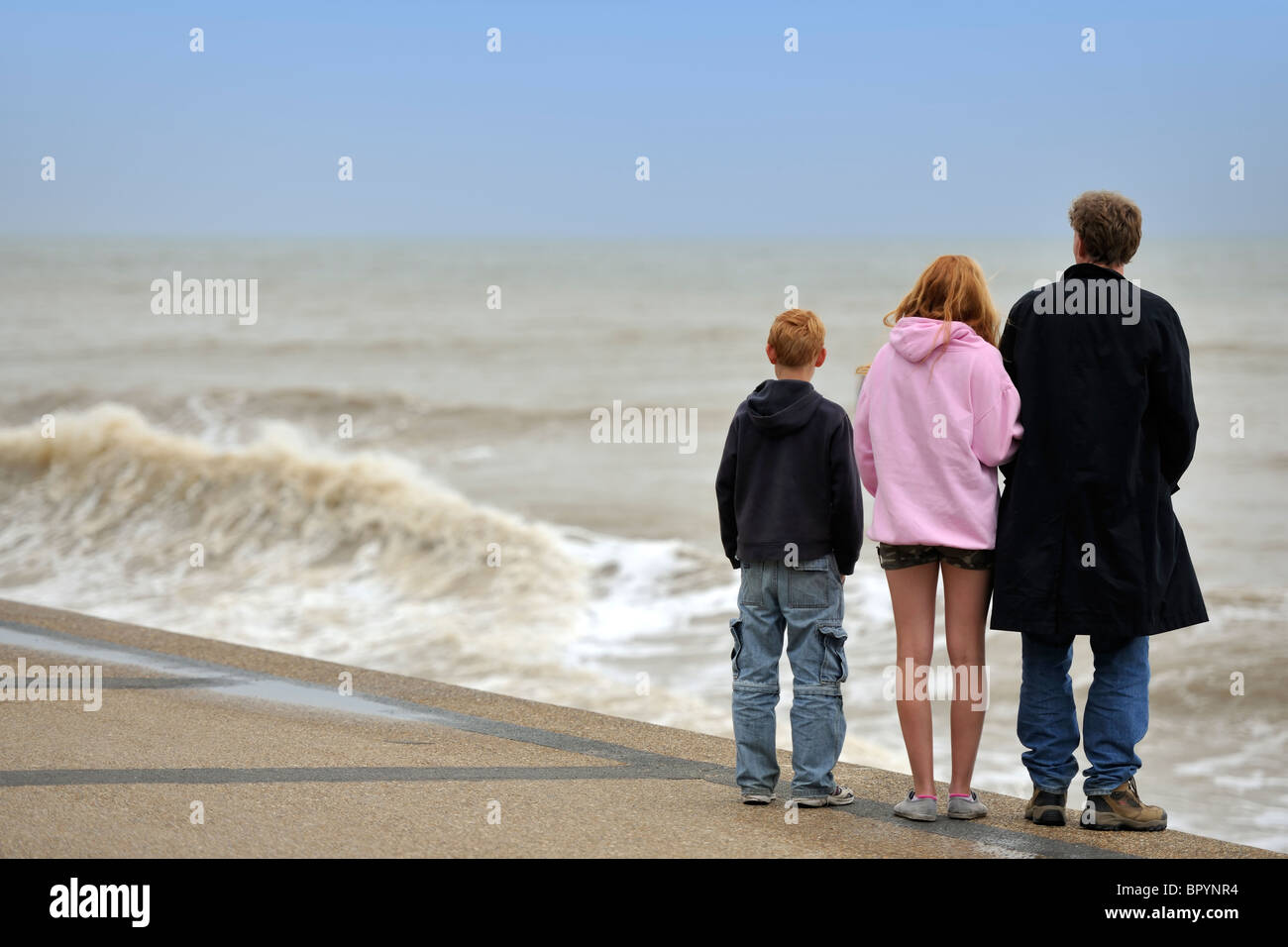 Looking out to sea - Stock Image