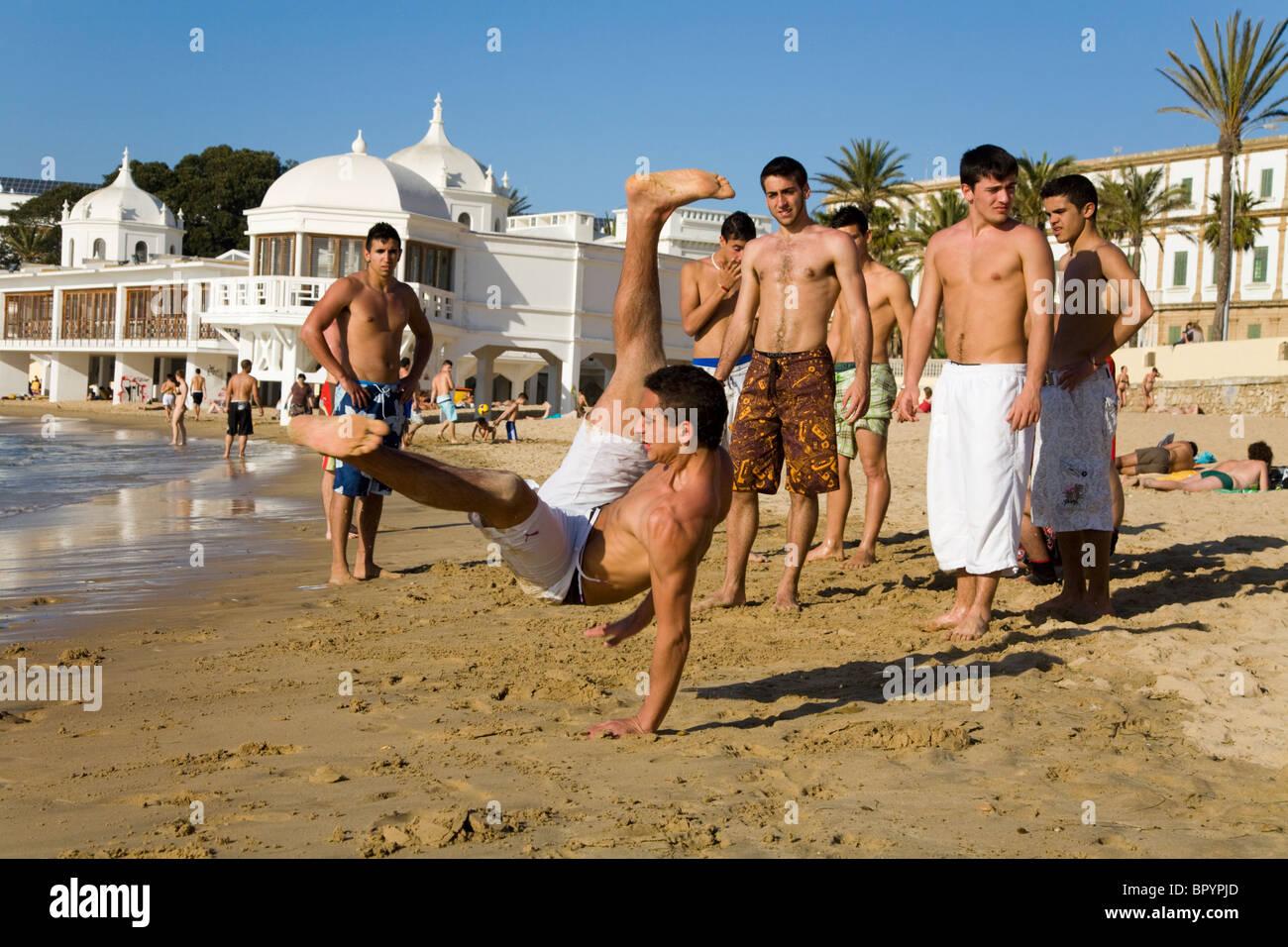 Spain beach teen