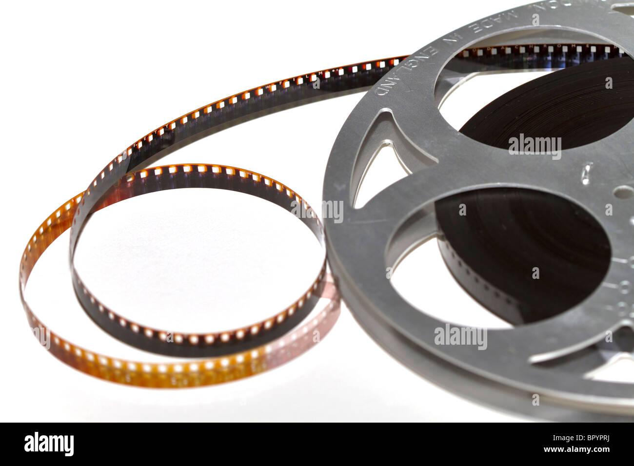 Reel of movie film Stock Photo