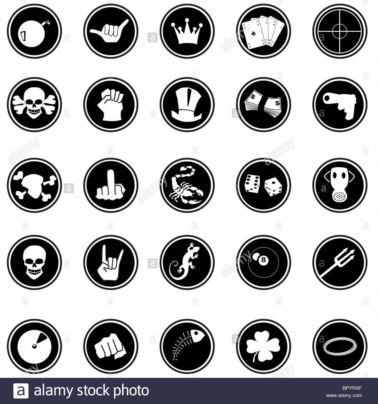 comic buttons set - Stock Image