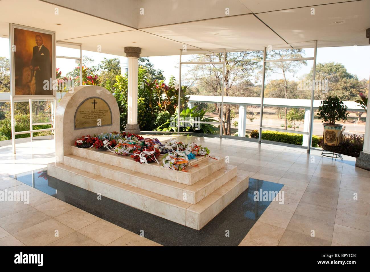 Mausoleum to HE DR Kamuzu Hastings Banda, Lilongwe, Malawi - Stock Image