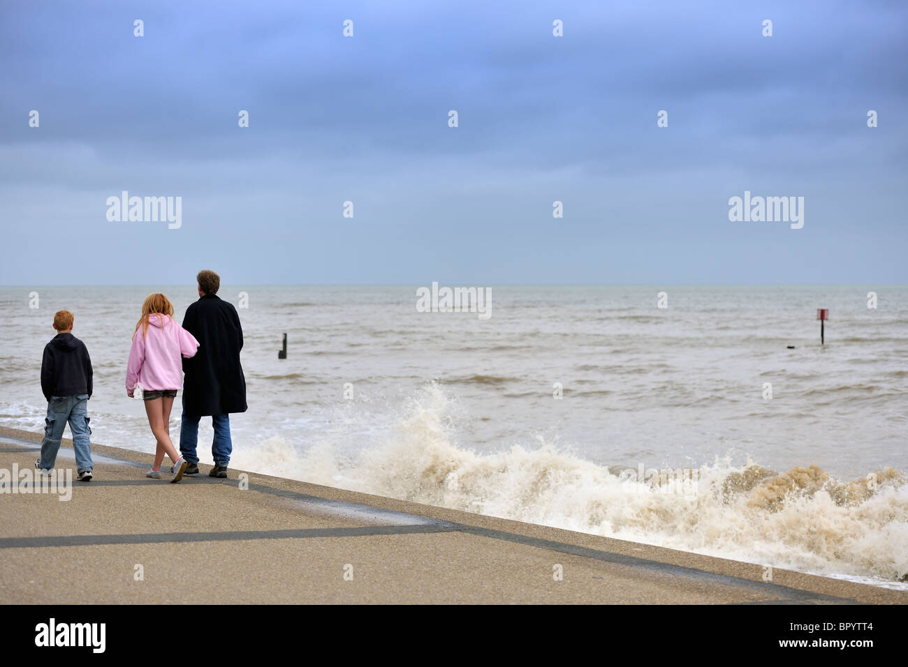 A walk along the promenade - Stock Image