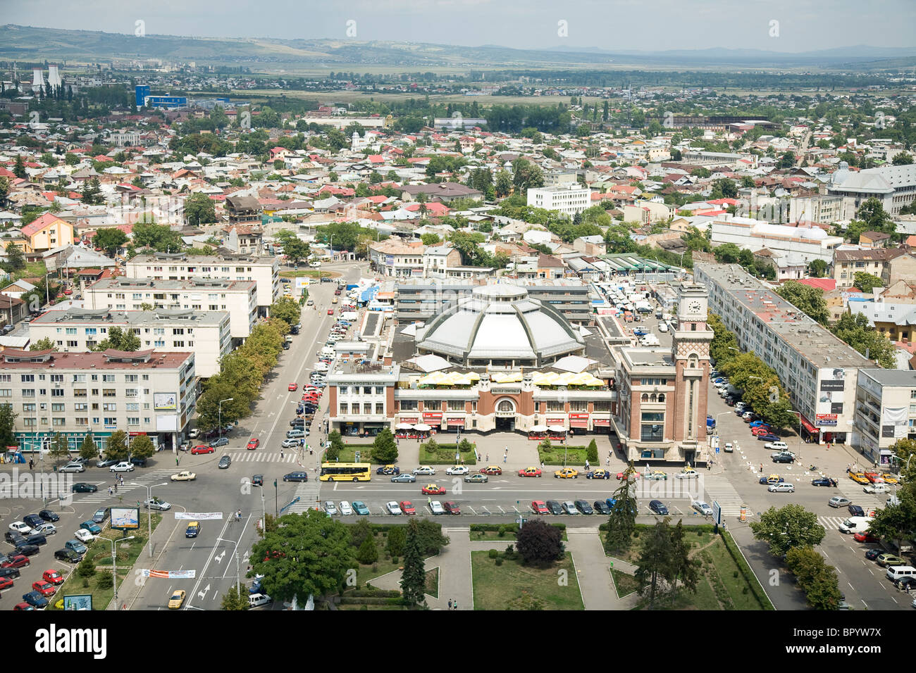 Aerial photograph of Bucharest Romania - Stock Image