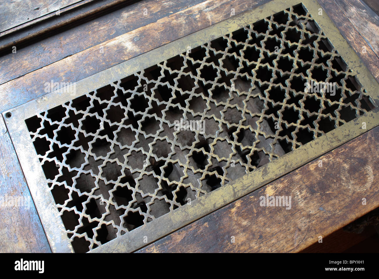 vintage retro old vent cover - Stock Image