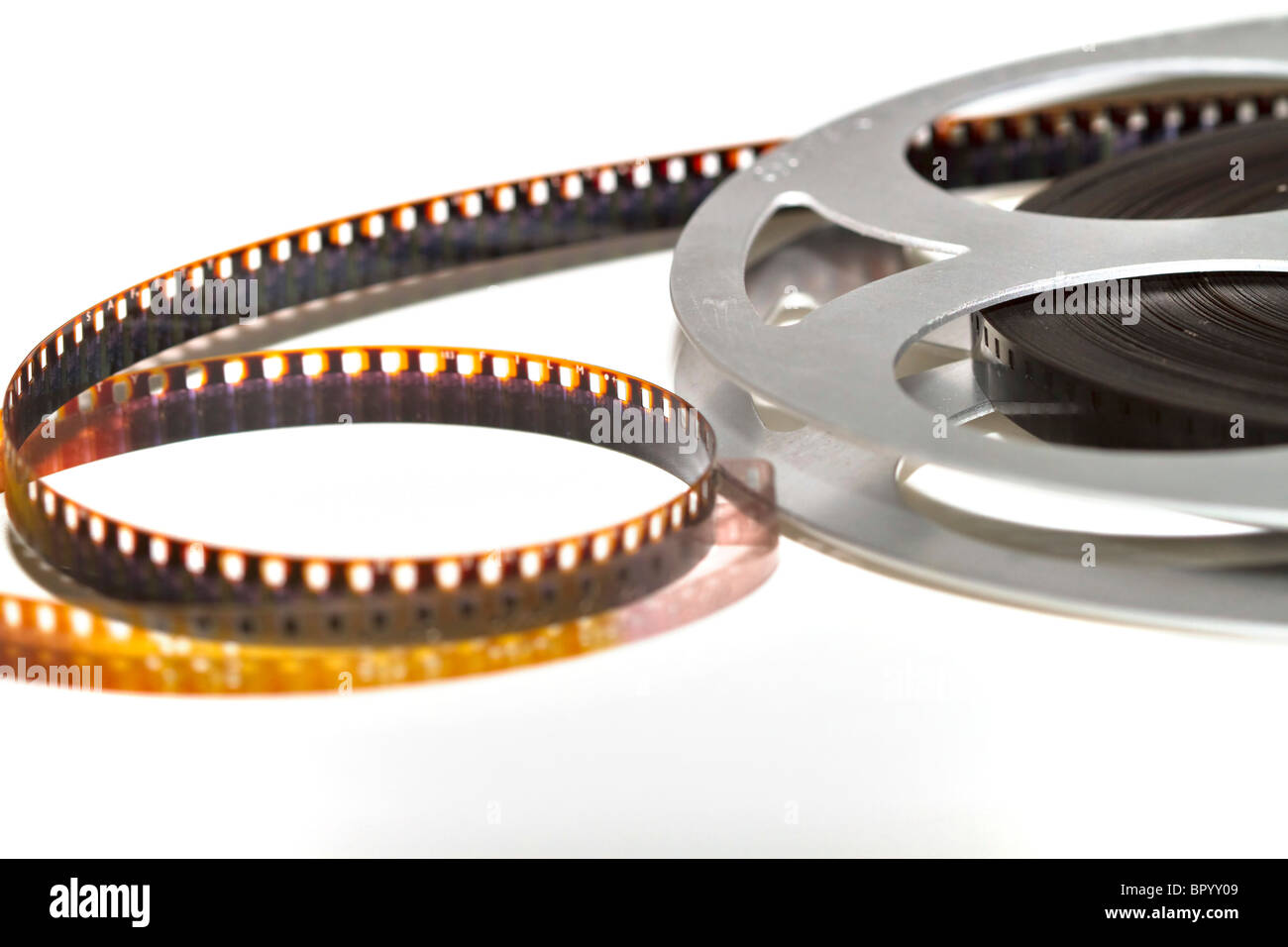 Reel of movie film Stock Photo