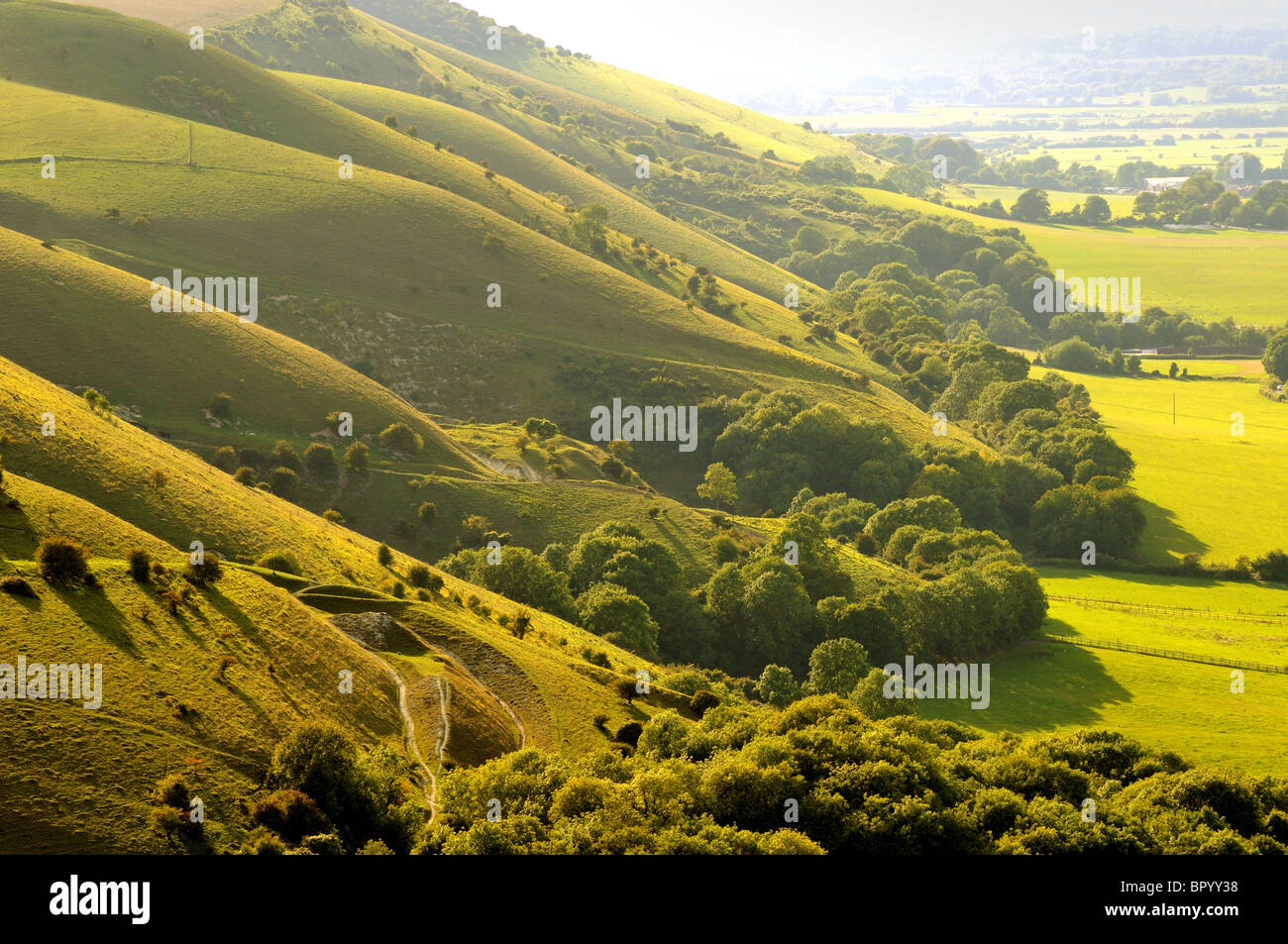South Downs at Devils Dyke near Brighton Sussex - Stock Image