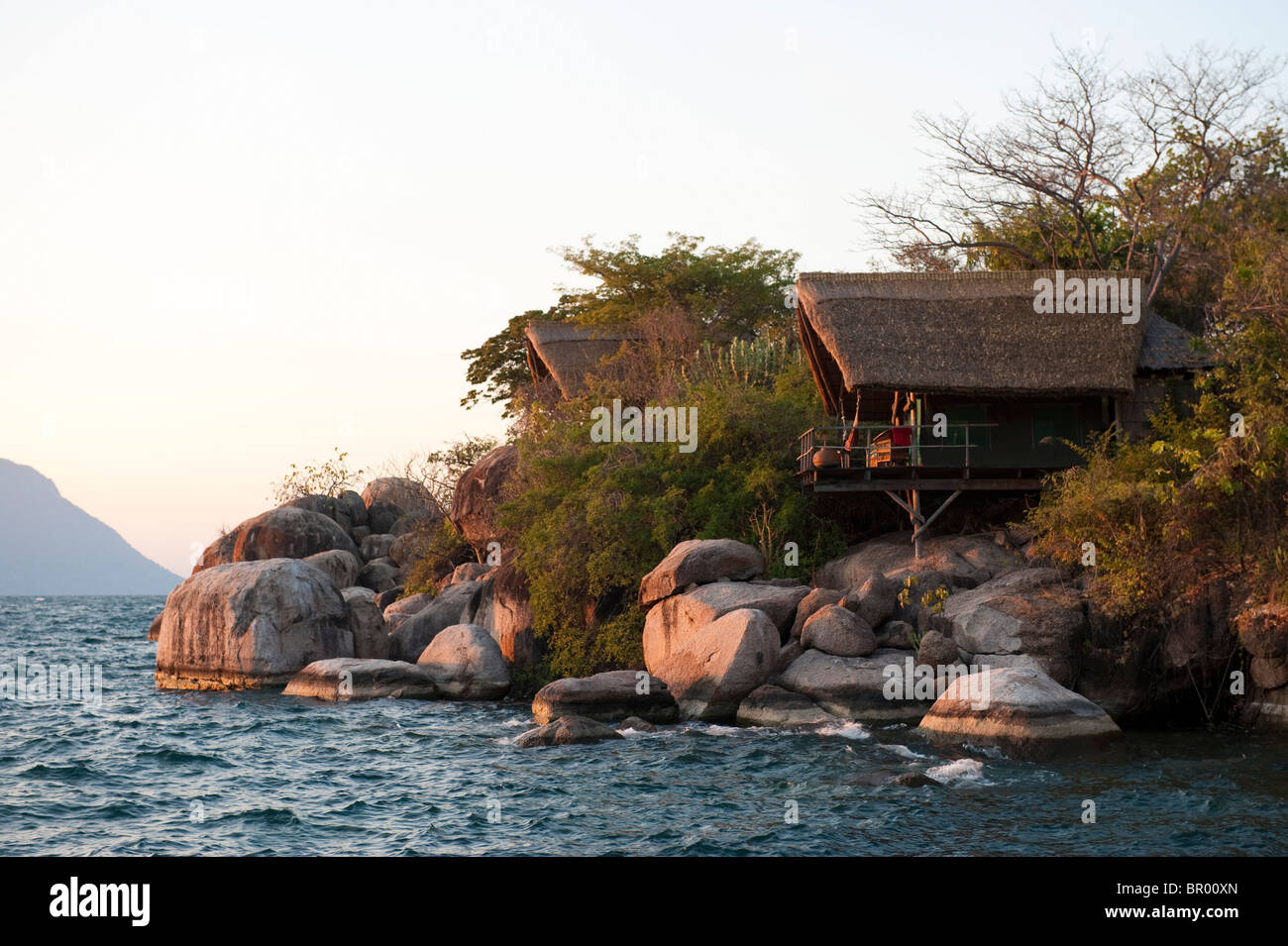 Mumbo Island Camp, Lake Malawi National Park, Malawi - Stock Image