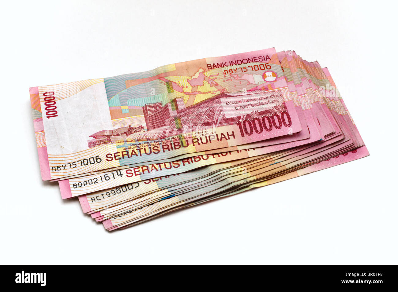 Indonesian One Hundred Thousand Rupiah Banknotes Stock Photo