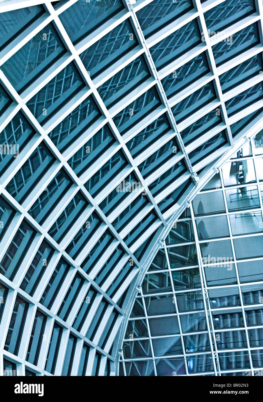 istanbul airport structure detail background - Stock Image