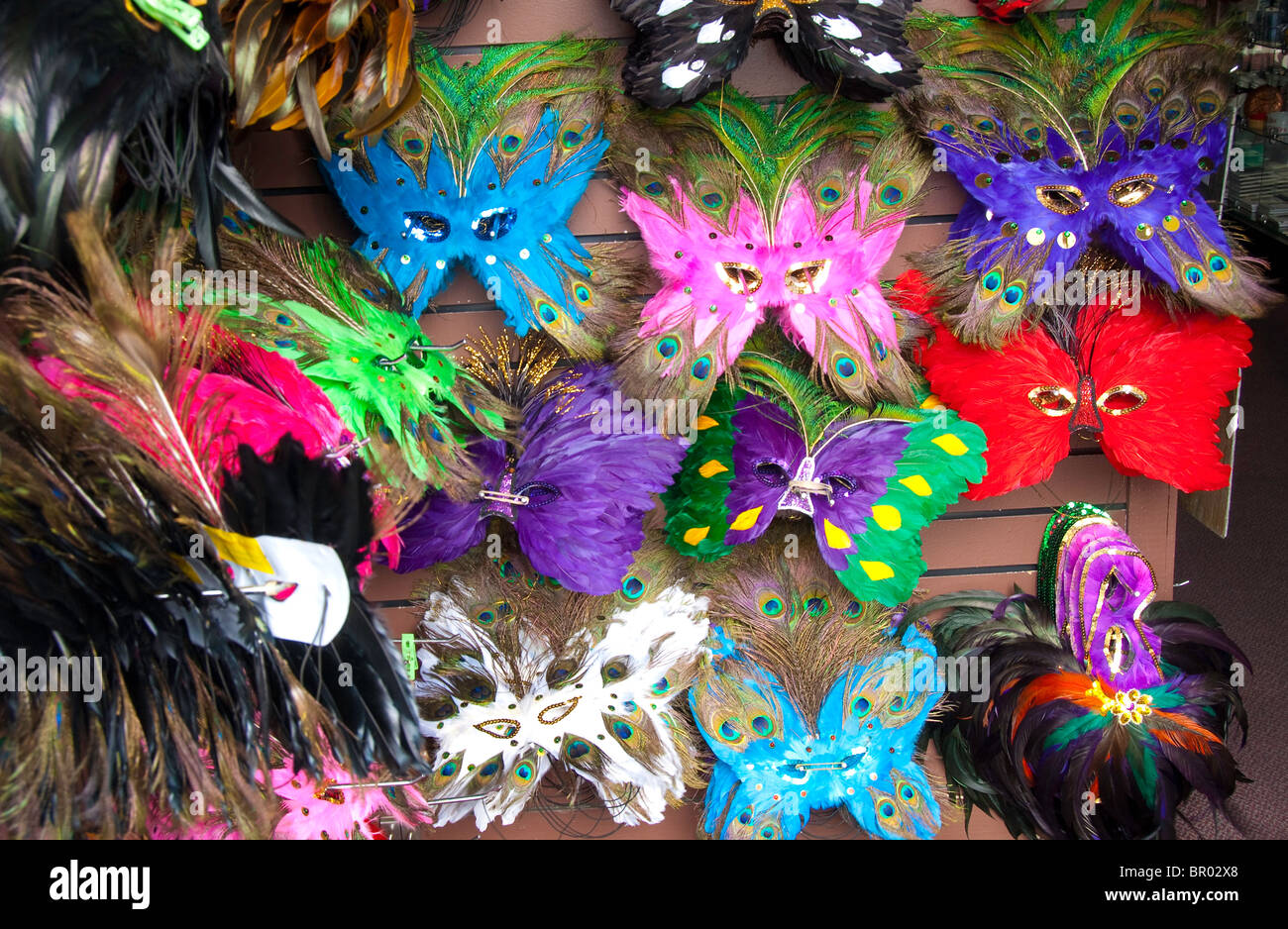 Mardi Gras masks in New Orleans, Louisiana, USA - Stock Image