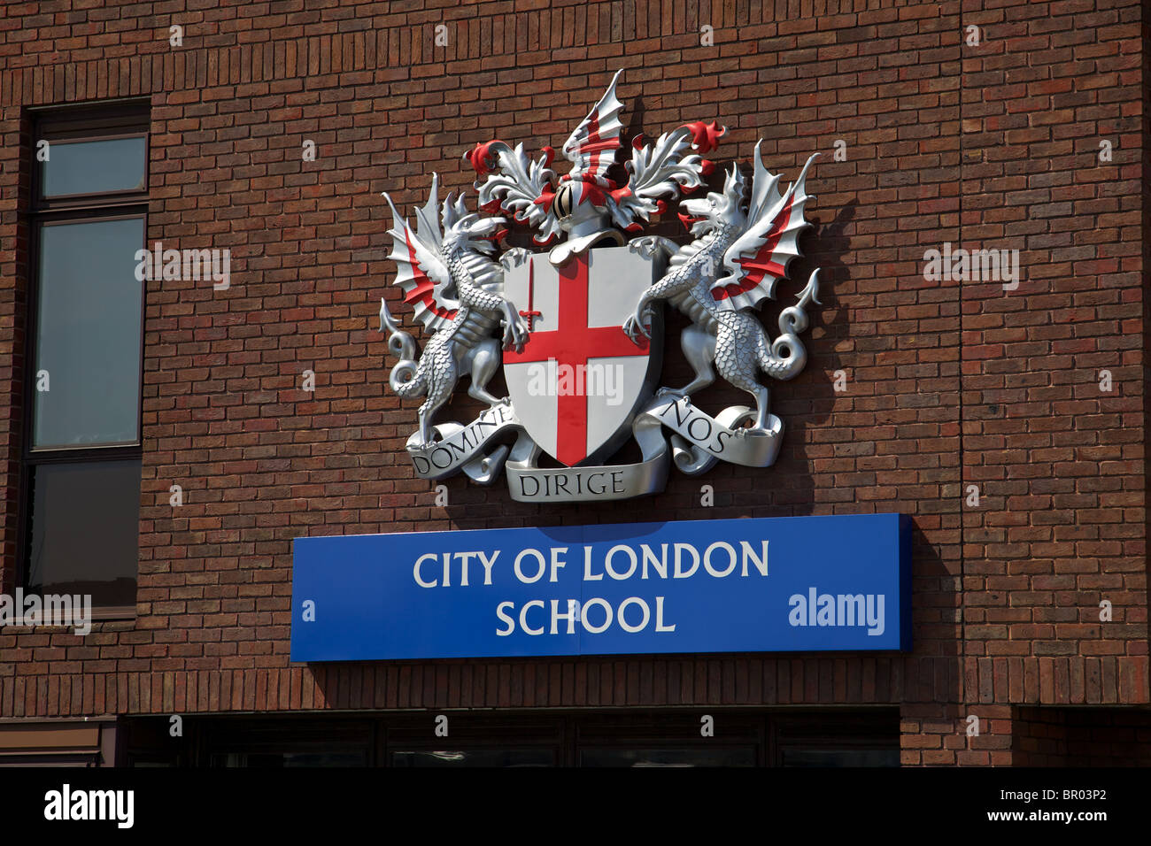 The coat of arms of the City of London - Stock Image