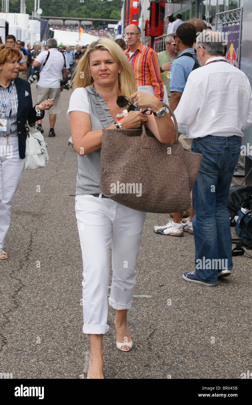 corinna schumacher wife of michael schumacher at f1 grand prix in stock photo 31350743 alamy. Black Bedroom Furniture Sets. Home Design Ideas