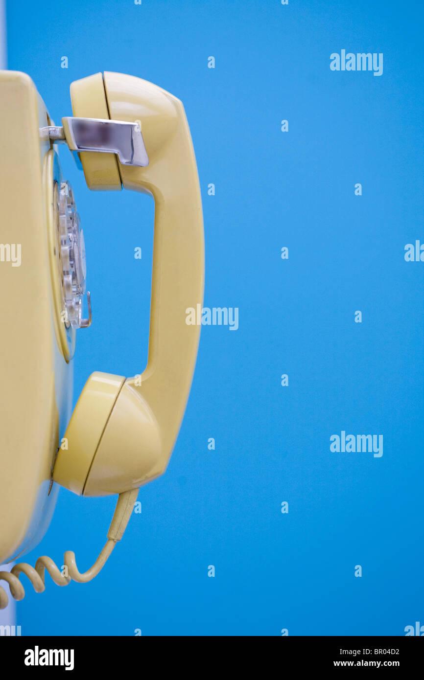 wall telephone - Stock Image