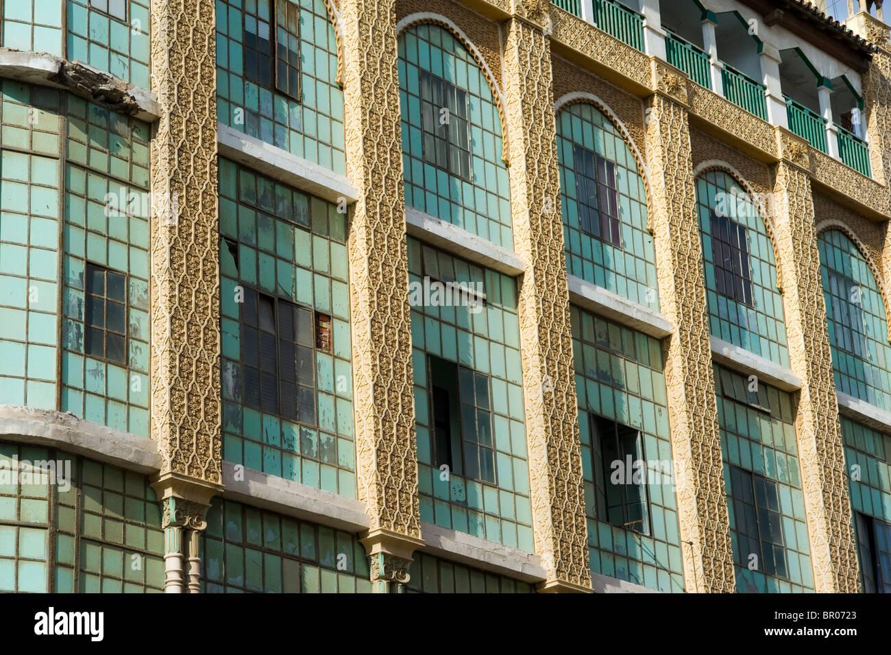 Casa de los Cristales  ( Glass House) by the Modernist style architect Enrique Nieto . Melilla.Spain. - Stock Image
