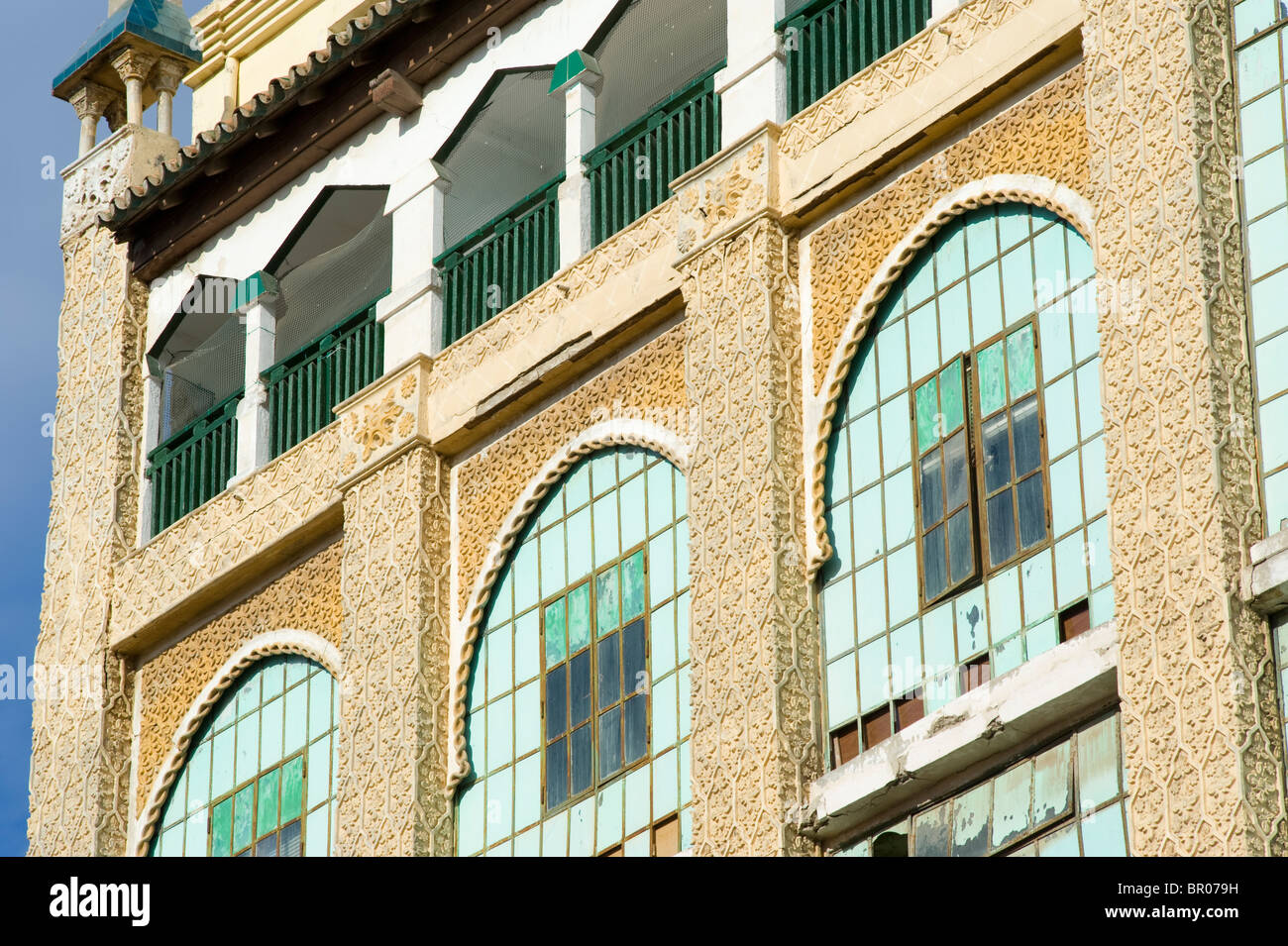 Casa de los Cristales by the Modernist style architect Enrique Nieto . Melilla.Spain. - Stock Image