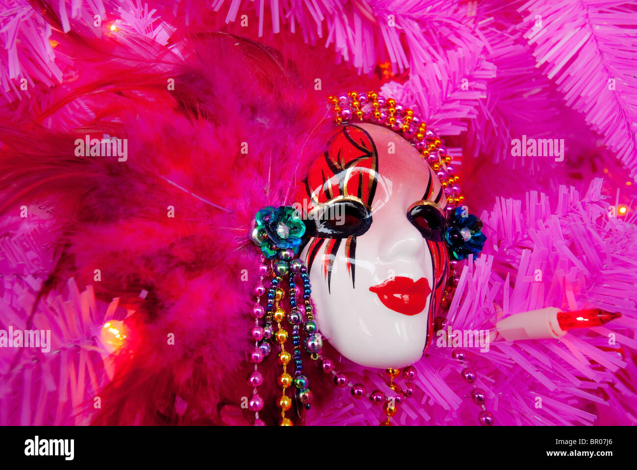Mardi Gras mask in New Orleans, Louisiana, USA - Stock Image