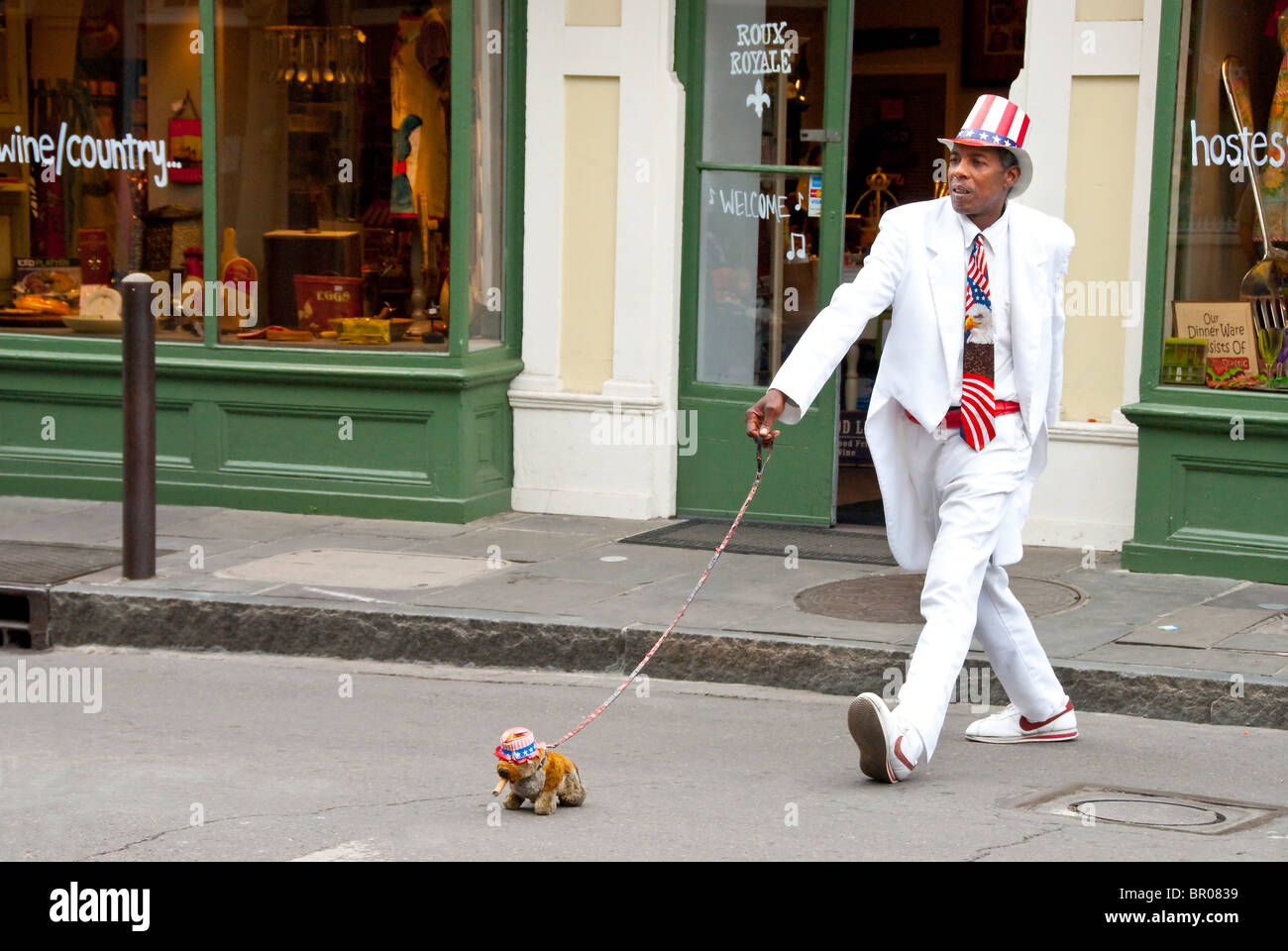 Street performer in French Quarter of New Orleans, Louisiana, USA - Stock Image