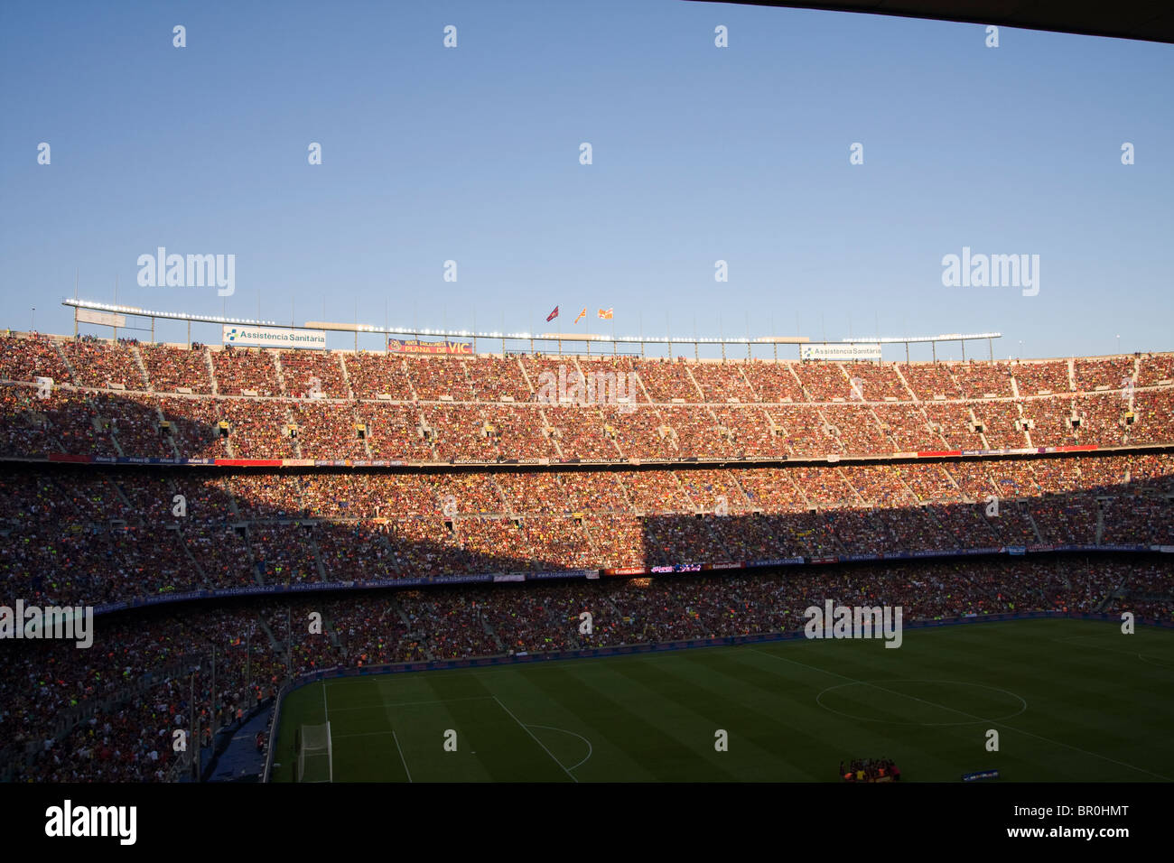 Camp Nou stadium in Barcelona prior to the 2010 Joan Gamper trophy match against AC Milan - Stock Image