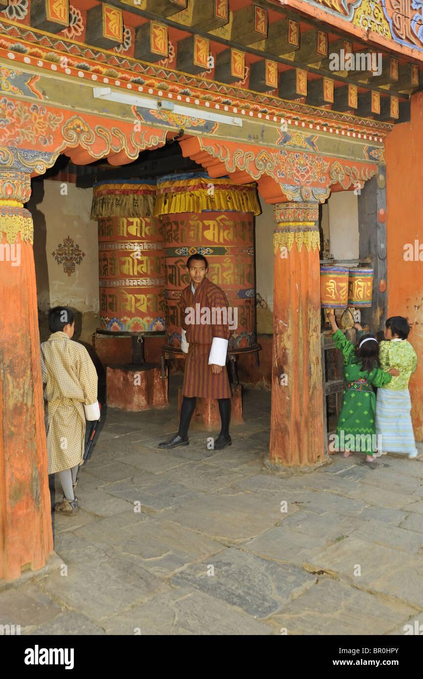 Jambay Lhakhang Temple, Bumthang, Bhutan - Stock Image
