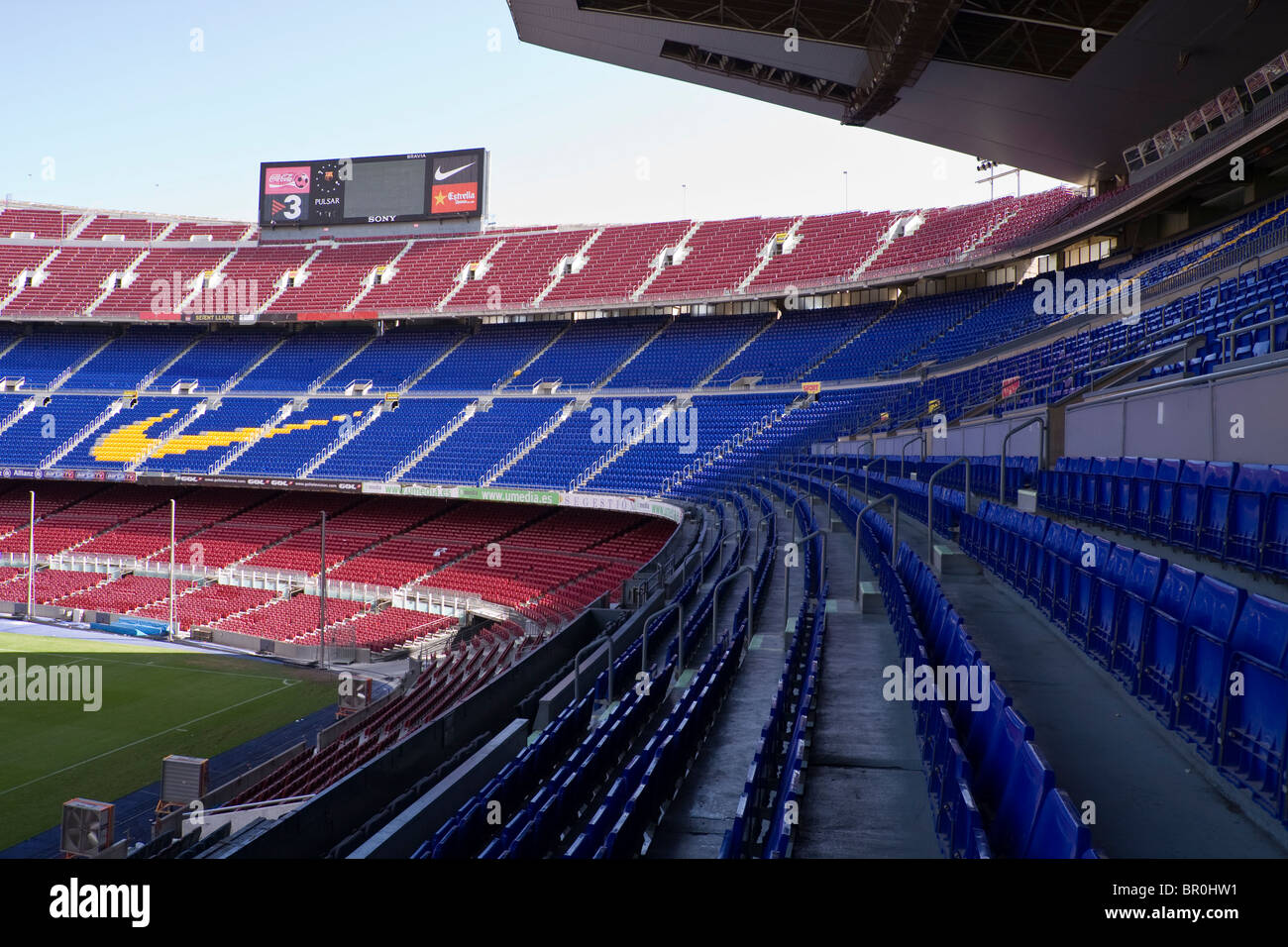 seats in the camp nou stock photos & seats in the camp nou stock