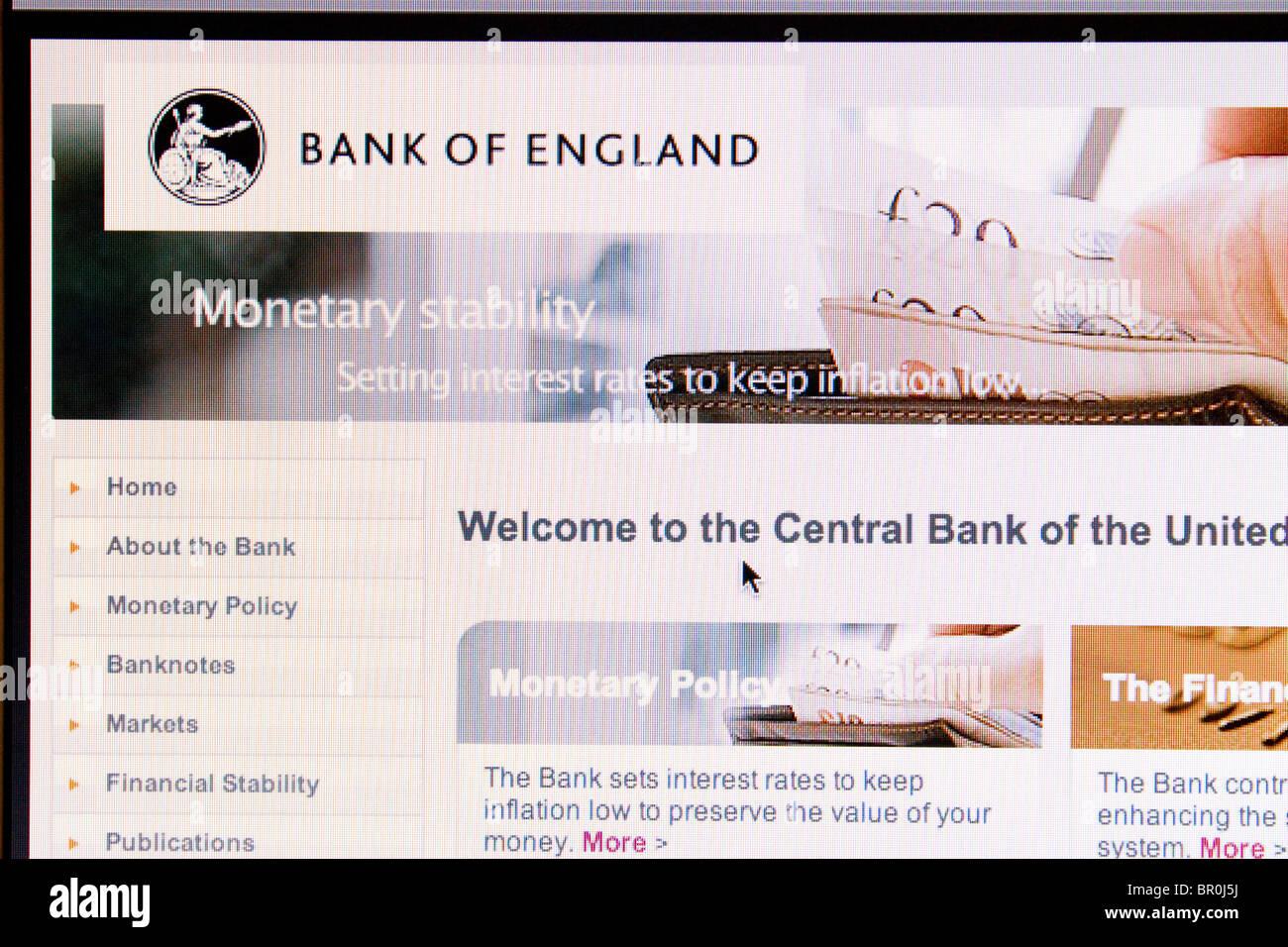 Bank of England Screenshot - Stock Image
