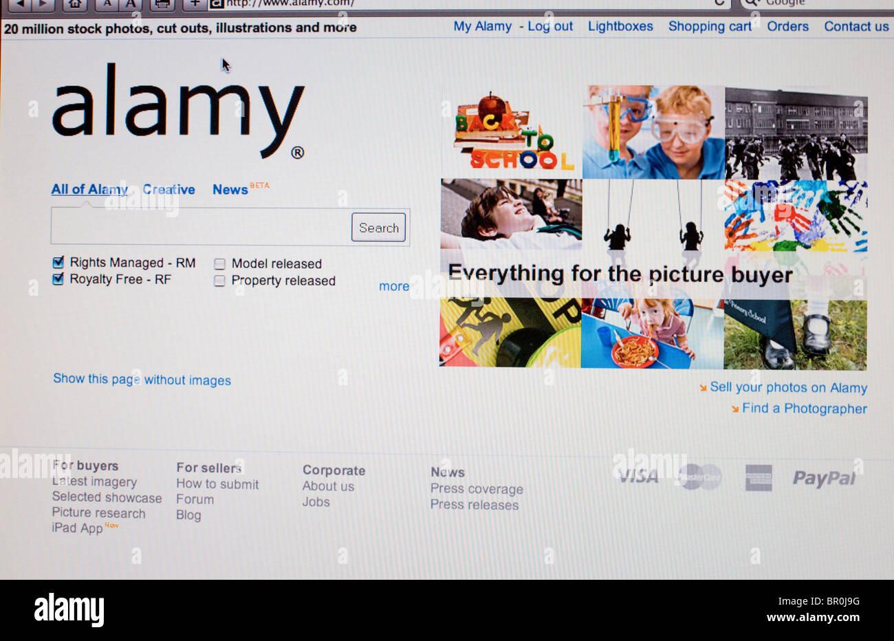 alamy Screenshot - 20 million images landmark - Stock Image