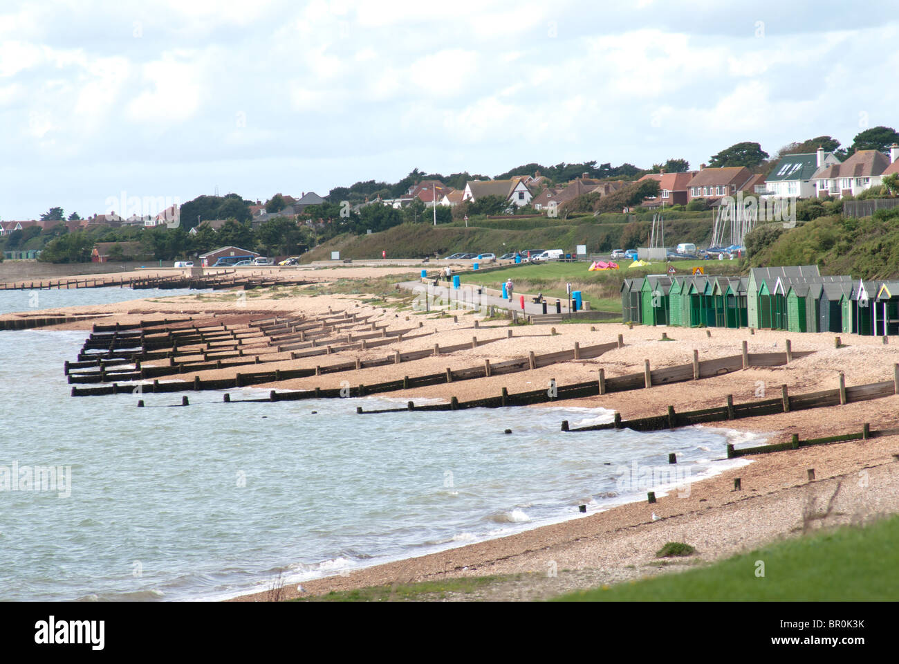 Sea Defence at Lee on Solent - Stock Image