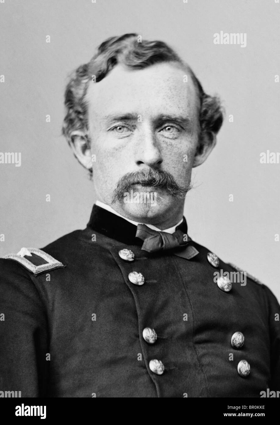 Portrait c1860s of Major-General George Armstrong Custer (1839 - 1876) - famously killed in the Battle of the Little - Stock Image
