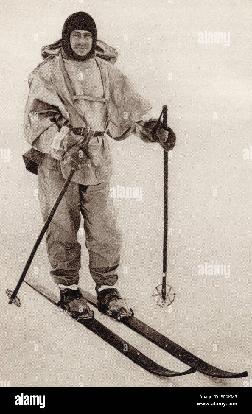 Captain Robert Falcon Scott, 1868 to 1912. British Royal Navy officer and Antarctic explorer. - Stock Image
