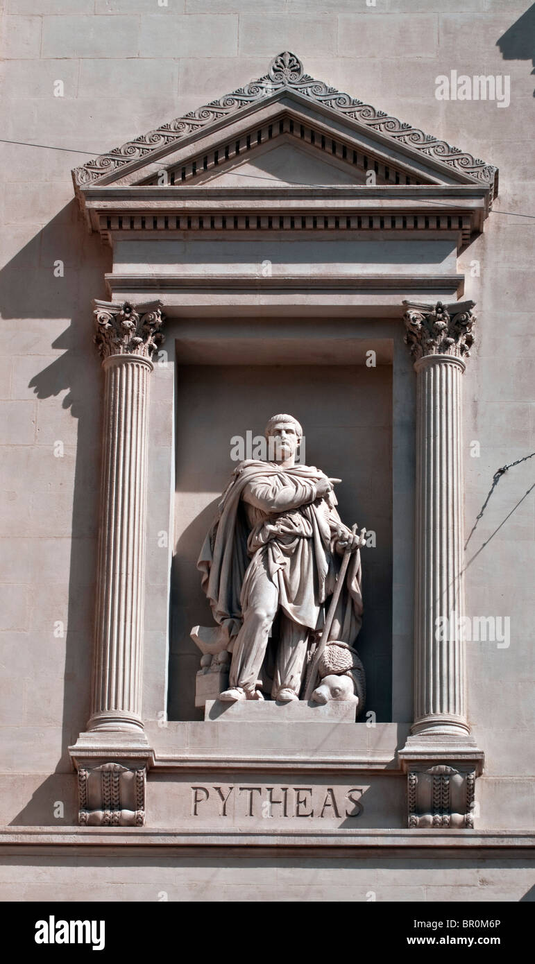 Pytheas the Greek navigator of Marseille who discovers Scandinavia - Stock Image