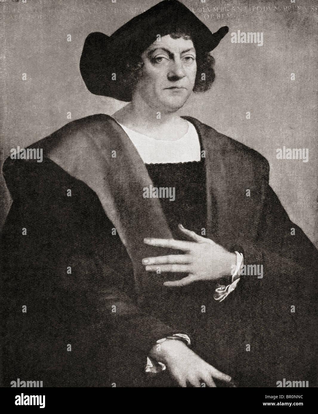 Christopher Columbus, c.1451 to 1506. Italian navigator, colonizer and explorer. - Stock Image