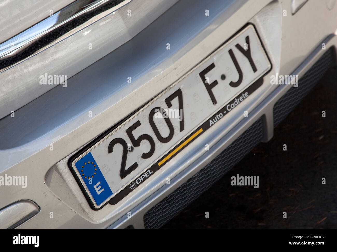 Number Plate On Spanish Registered Car Spain Stock Photo 31365252